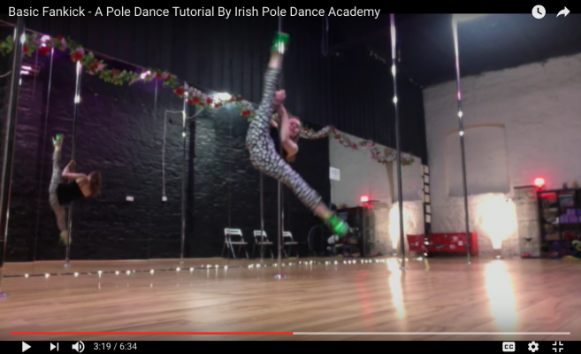 pole dancing dublin tutorial
