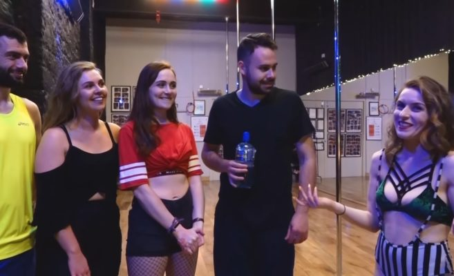 irish people try pole dancing