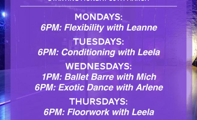 online pole dancing fitness classes dublin