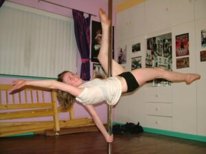 arlene caffrey pole dancing at home