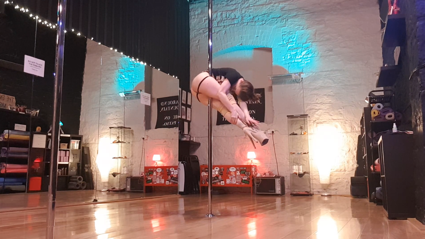 advanced pole dance tutorial April 2020