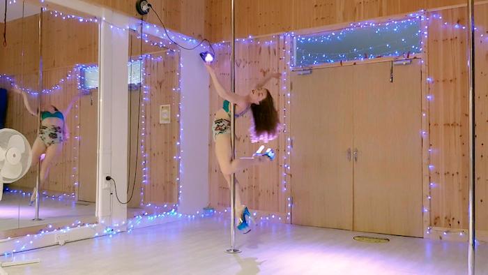 arlene caffrey advanced pole dance choreography class august 2021