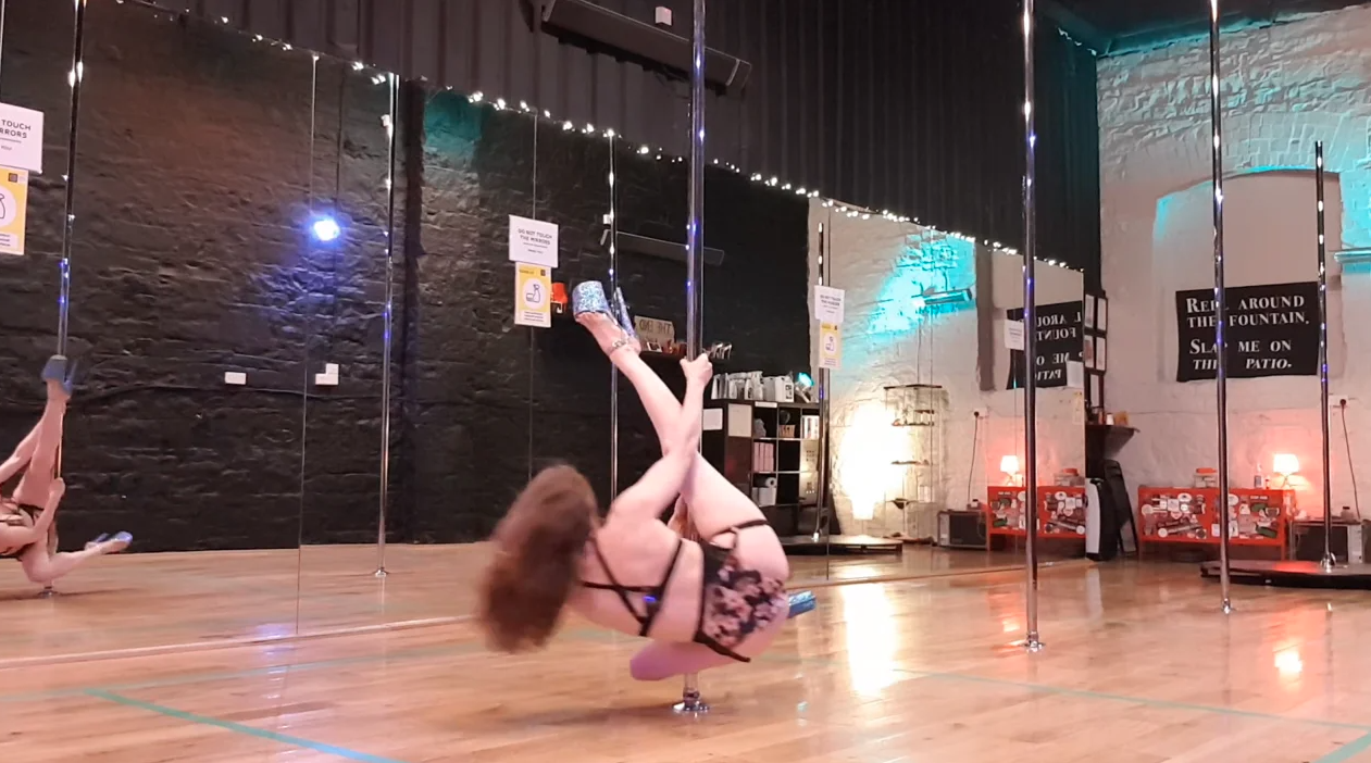 pole dance lazy stripper spin