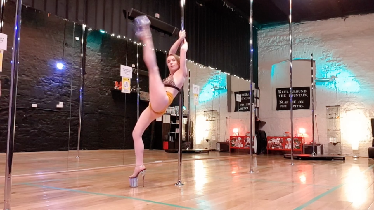 beginner pole dance choreography lesson october 2020