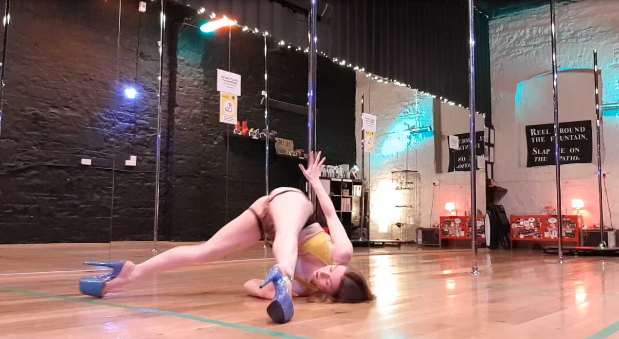 advanced level pole dance class tutorial online