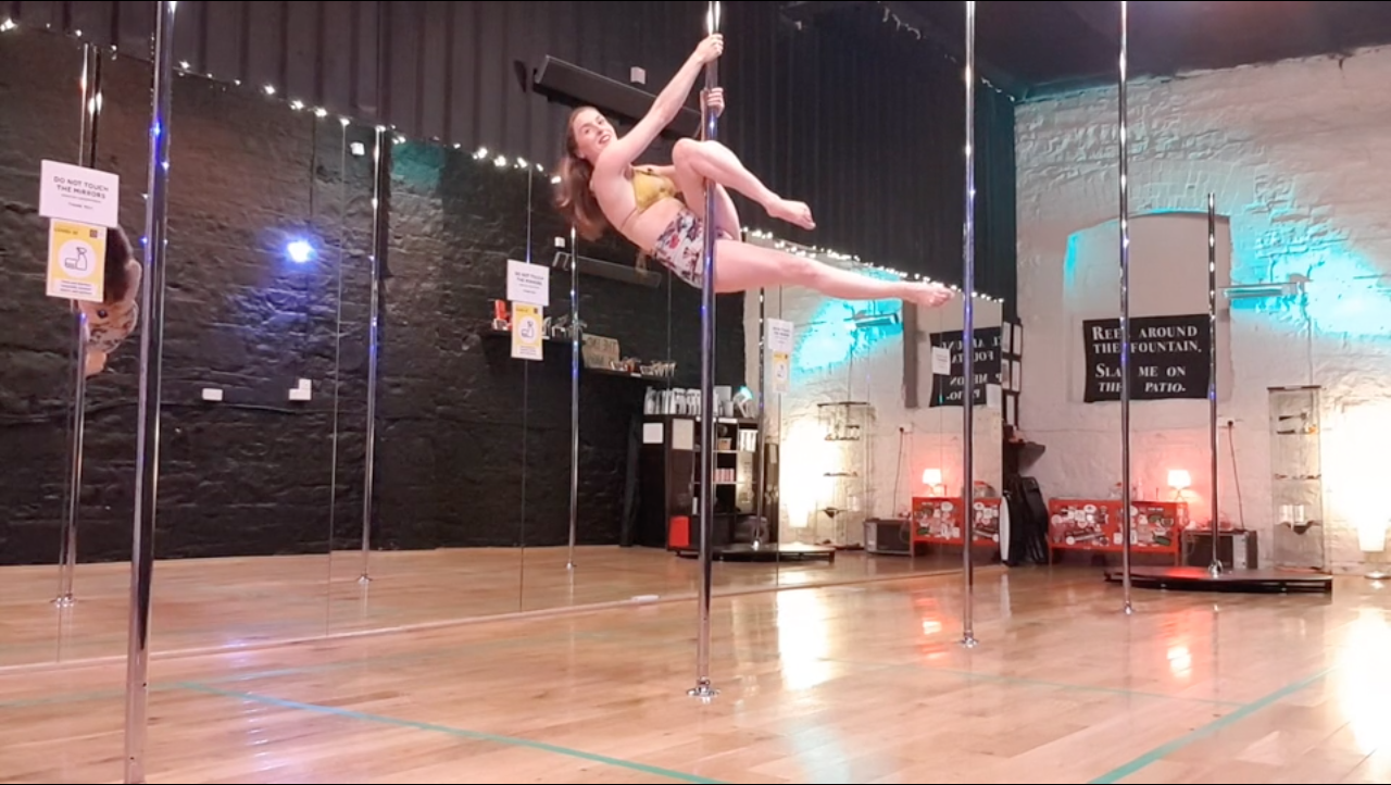 advanced level pole dance trick learn online