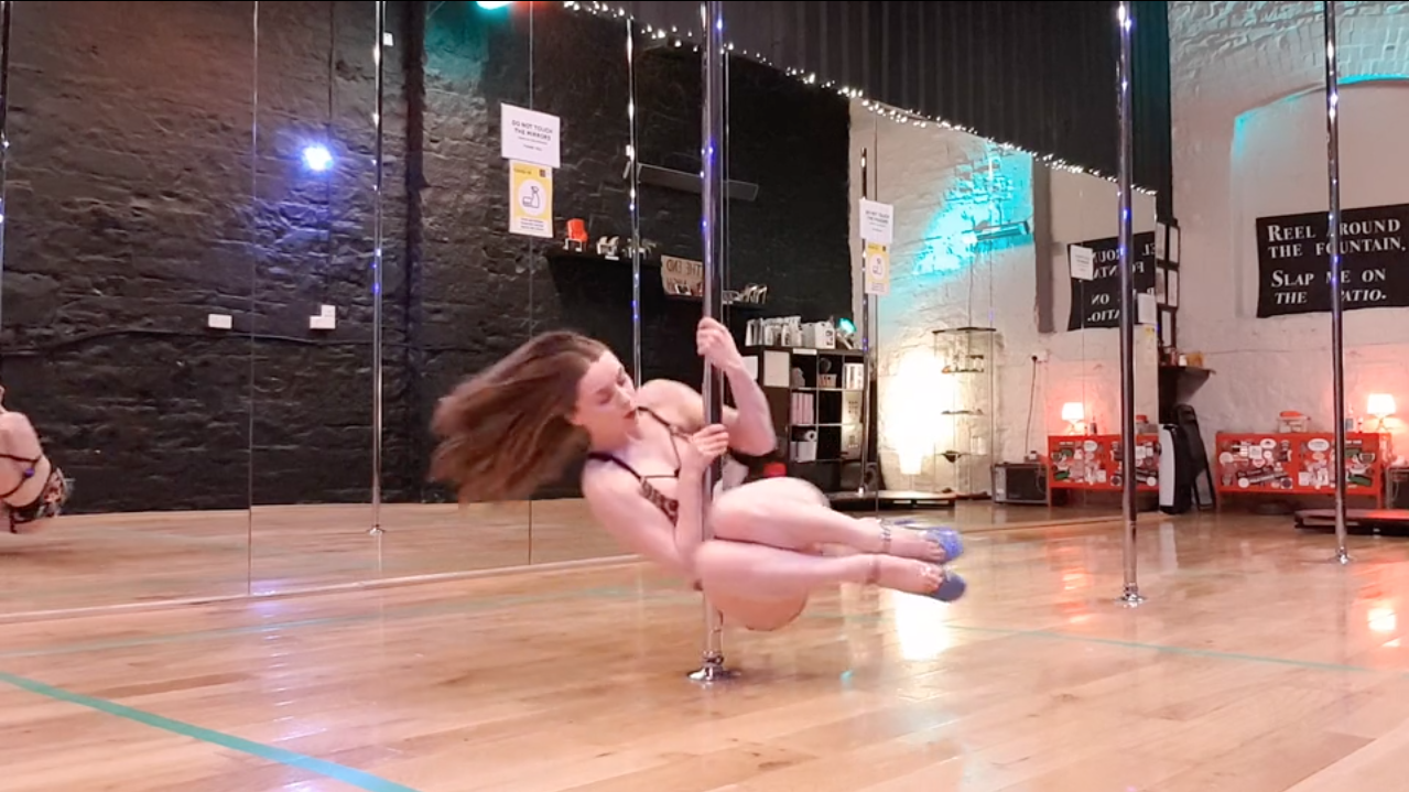 basework tuck spin pole dance lesson online