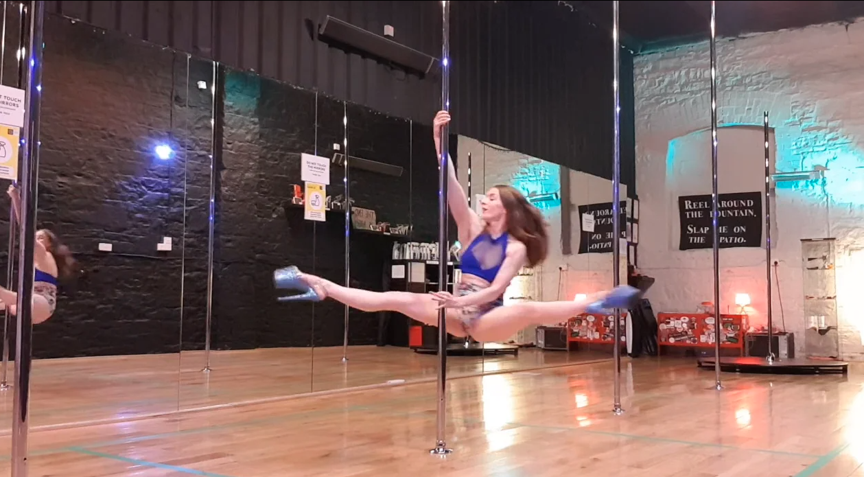 learn pole dance spins online boomerang tutorial