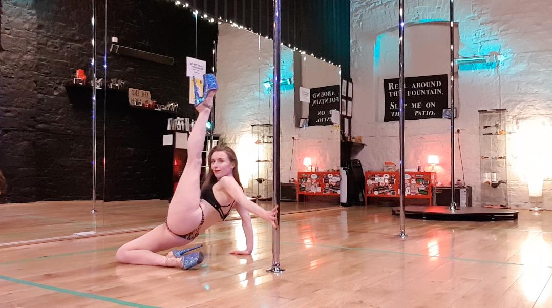 basework plank to leg extension pole trick