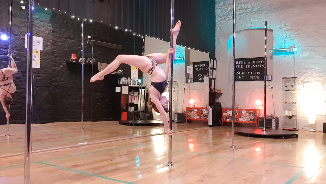 butterfly pole dance tutorial