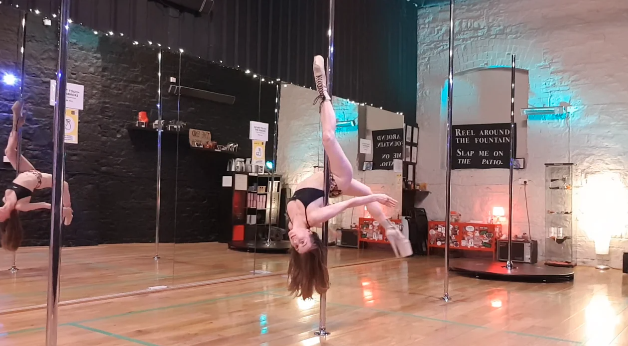 holly drop pole dance tutorial