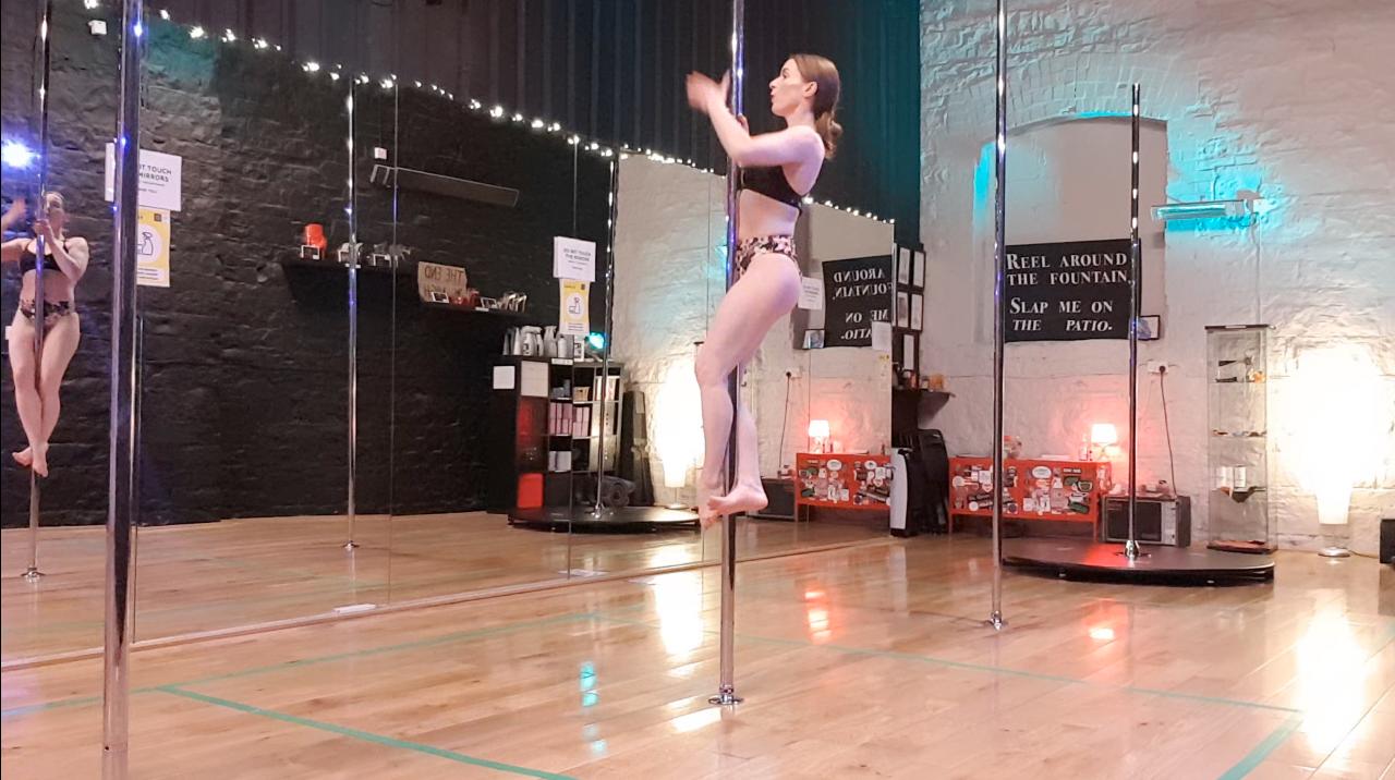 pole dance basic climb tutorial