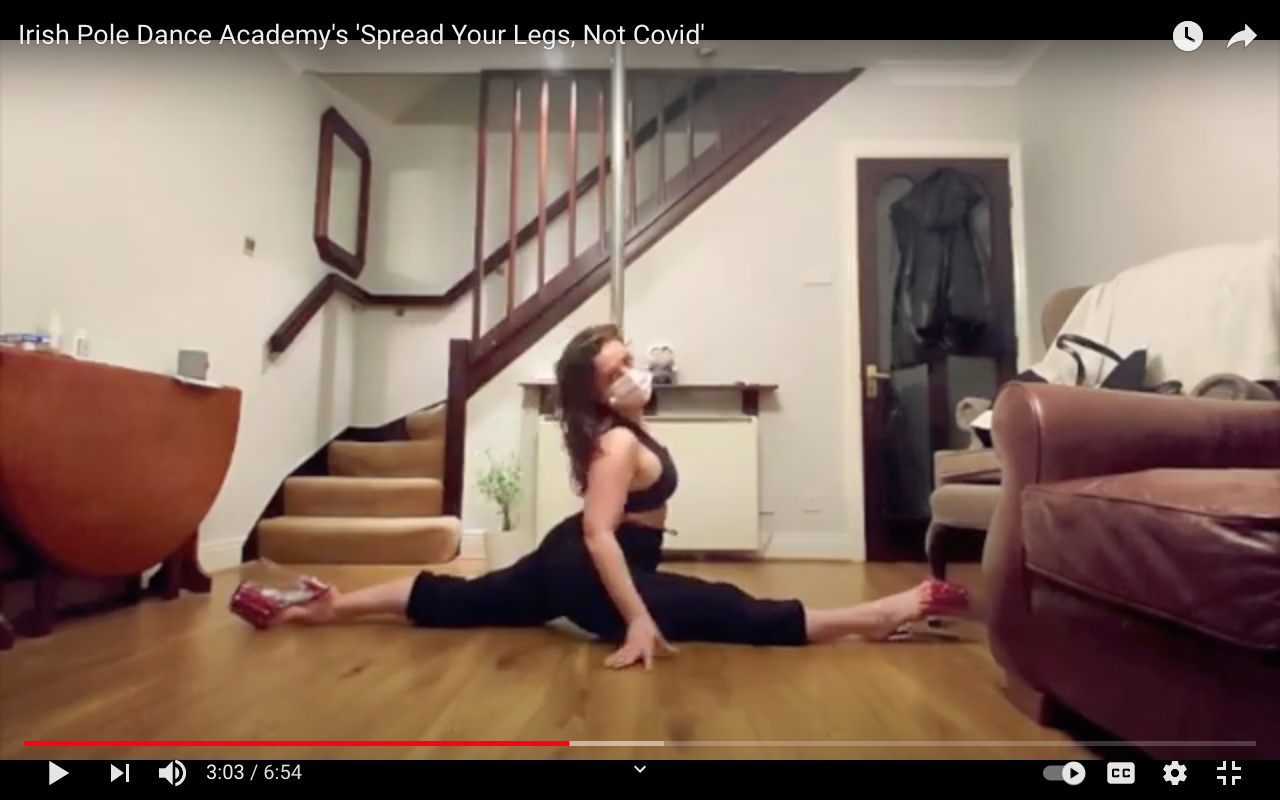 screenshot from the 'spread your legs not covid' youtube video
