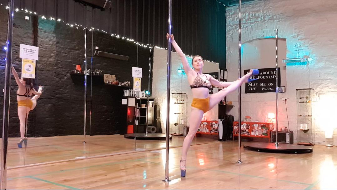 Arlene demonstrating natasha wang spin