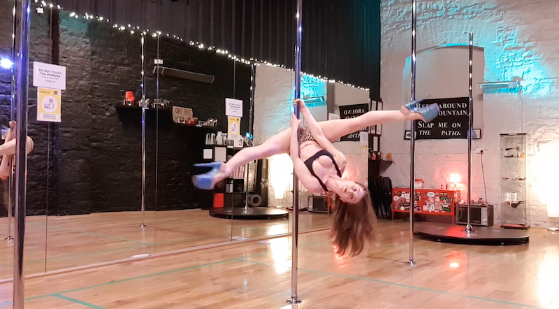 how to invert on spinny pole tutorial