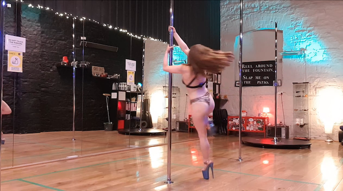 back lean to strong hold pole dance tutorial
