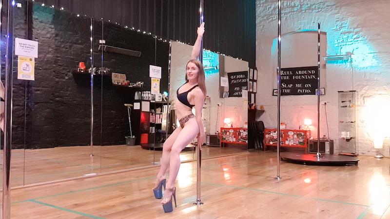 beginner pole dance tutorial front lean