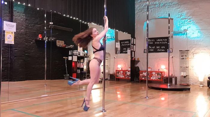 half bracket to strong hold outside leg pole dance tutorial
