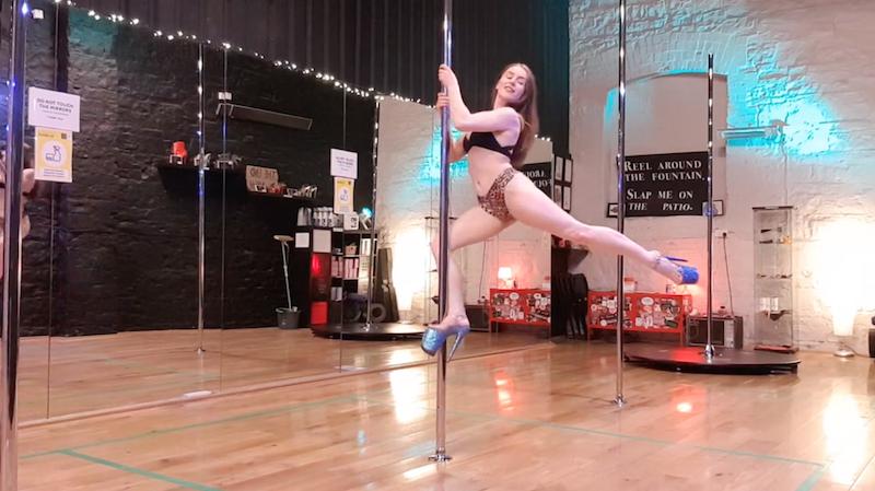 pole dance tutorial how to climb on spinny pole