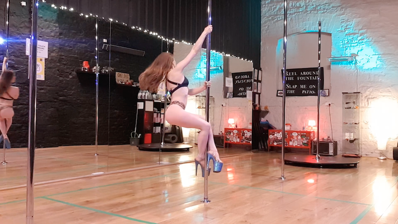 spinny pole climbing from a steparound tutorial