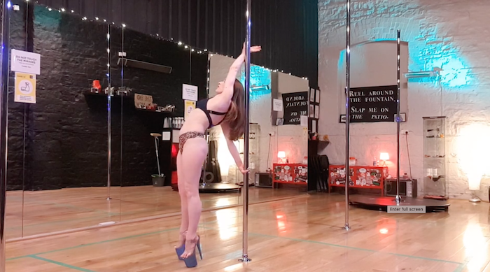 strong hold to back lean pole dance tutorial